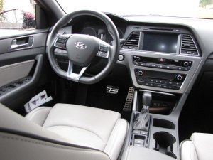 The dash is clean and well laid out, with large easy-to-use buttons.