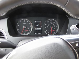 Main gauges are simple to see and understand.
