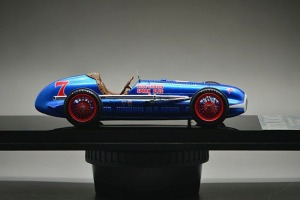 Bill Holland's 1949 Indy 500 winner, the same basic car, but in a brighter blue.