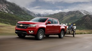 While only slightly smaller than a Silverado, the Colorado will pull about 7,000 lbs. of trailer and toys.