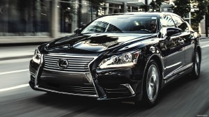 Lexus delivers a distinctive grille.