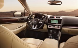 This is a sharp looking interior, with easy to read and reach controls.