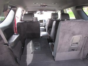Rear seats fold flat to create a load of cargo room.