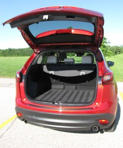 Plenty of cargo room in the CX-5.
