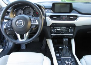 Handsome and easy to use and see dash in the Mazda6.