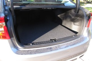The spare tire takes up much space so the S60's trunk is shallow.