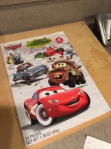 cars christmas countdown calendar