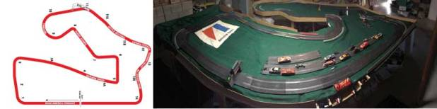 slot cars, 1/32, slot car tracks, road america