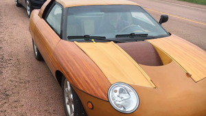 wooden car, strange cars, cars made out of wood