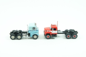NEO 1/64 scale Mack and International trucks