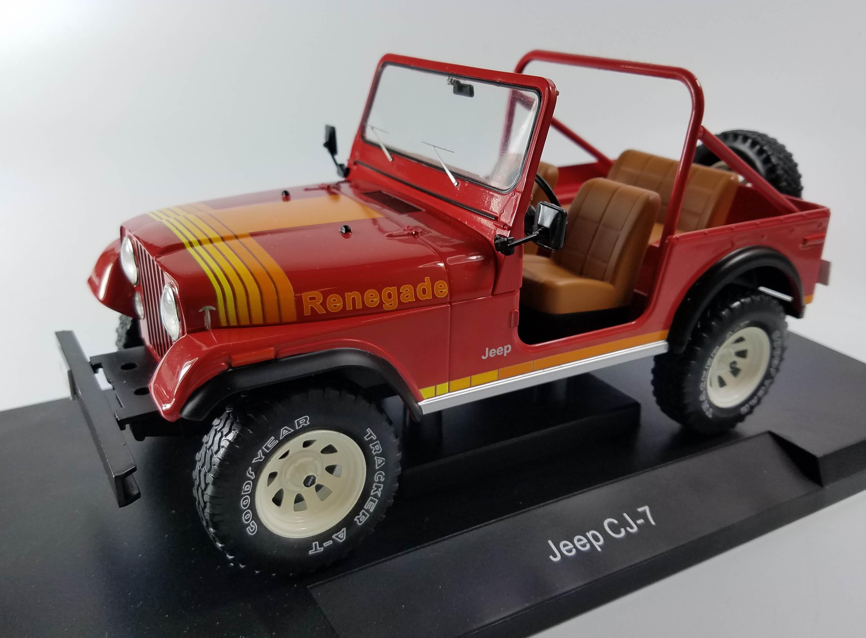 1:18 Model car group jeep cj-7 Renegade 1976 red