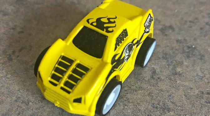 This hot wheels car is da bomb!