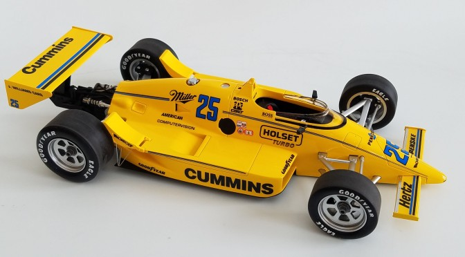 Die-cast: Replicarz March 86C, 1987 Indy 500 winner